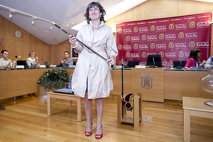 Cristina Sota, Tafallako alkate izendatu berritan, 2011n. ©Iñigo Uriz / Argazki Press