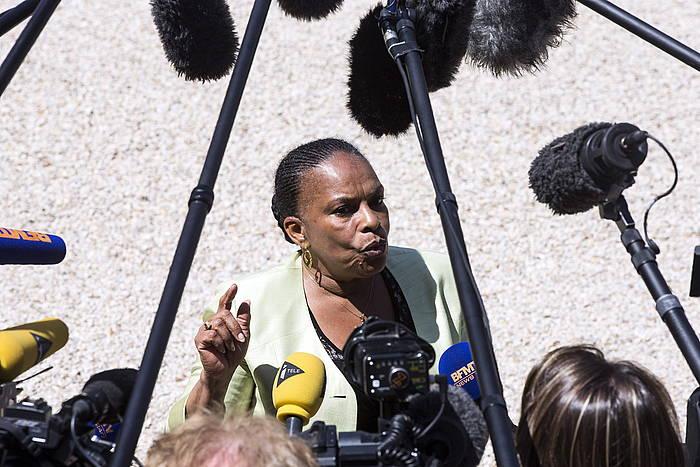 Christiane Taubira Frantziako Justizia ministroa, artxiboko irudi batean. ©Etienne Laurent / EFE