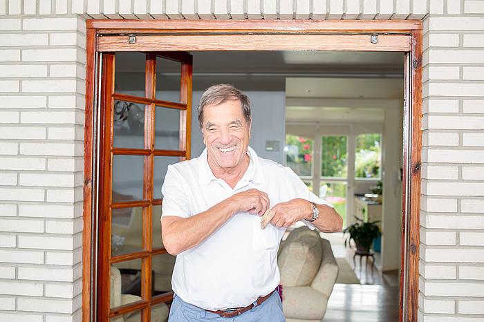 Jose Luis Elkoro, atzo, aske geratu berritan. ©Juan Carlos Ruiz / Argazki Press