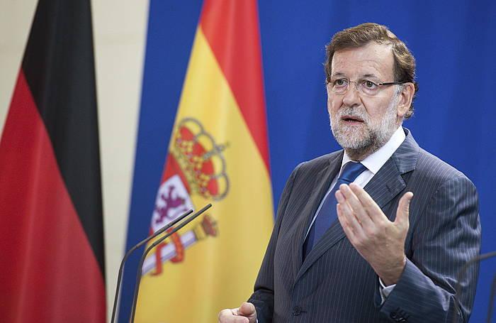 Mariano Rajoy, Berlinen, herenegun. ©Bernd Von Jutrczenka / EFE