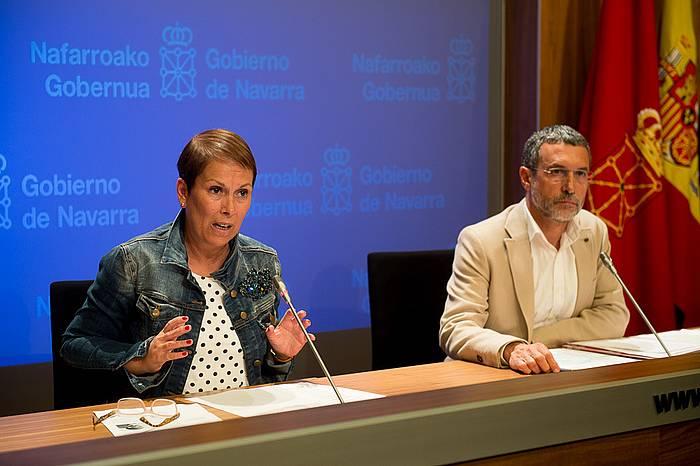 Uxue Barkos eta Miguel Laparra. ©Iñigo Uriz / Argazki Press