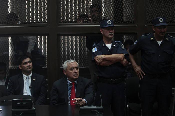 Otto Perez Molina, Guatemalako presidentea, bere aurkako salaketak entzuten auzitegian. ©Esteban Biba / EFE