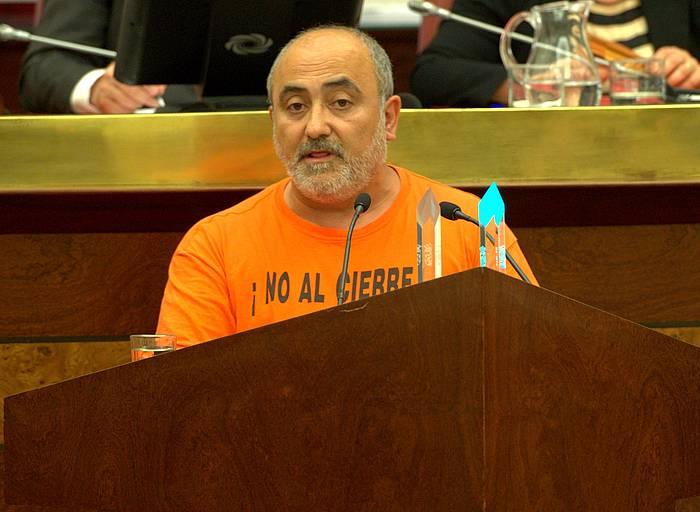 Koldo Martin Ahal Dugu-ko Arabako batzarkideen eleduna, ekainean. ©/ Juanan Ruiz, Argazki Press
