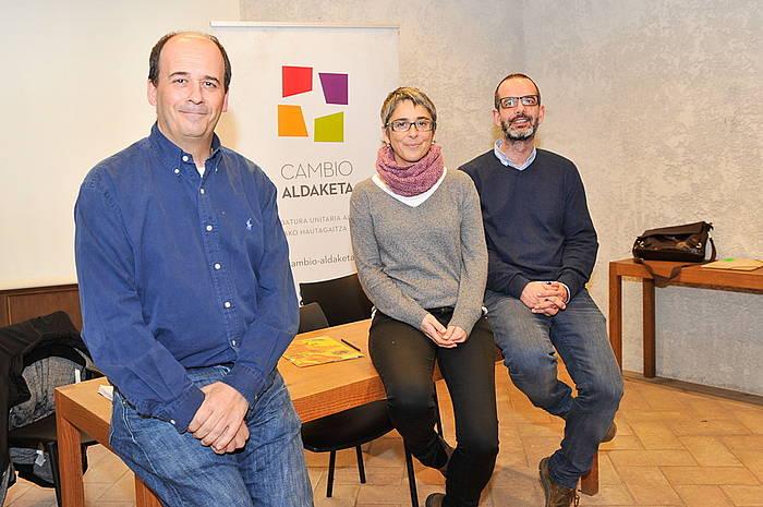 Patxi Zamora, Anika Lujan eta Iñaki Bernal. ©Idoia Zabaleta / Argazki Press