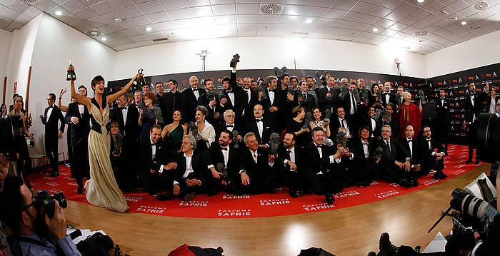 Goya sarietako irabazleak. ©JUanjo Martin / EFE
