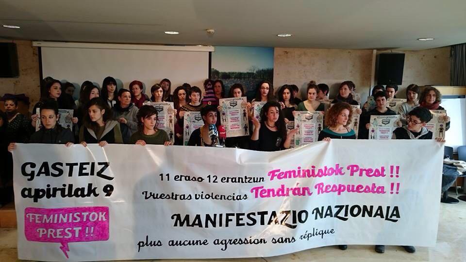 Manifestazioaren aurkezpena. ©/ Arabako Bilgune Feminista