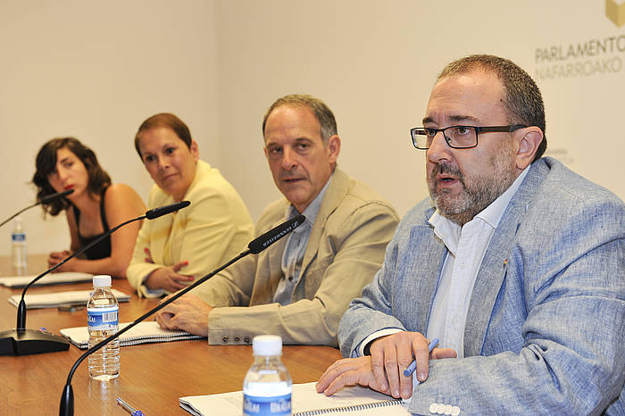 Ahal Dugu, Geroa Bai, EH Bildu eta Ezkerrako ordezkariak iazko uztailean. ©Idoia Zabaleta / Argazki Press