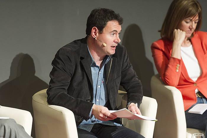 Hasier Arraiz autogobernuari buruzko jardunaldietan, Gasteizen. ©Juanan Ruiz / Argazki Press