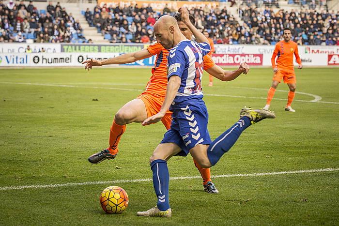 Gaizka Toquero Llagosteraren aurkako partidan. ©Jaizki Fontaneda / Argazki Press