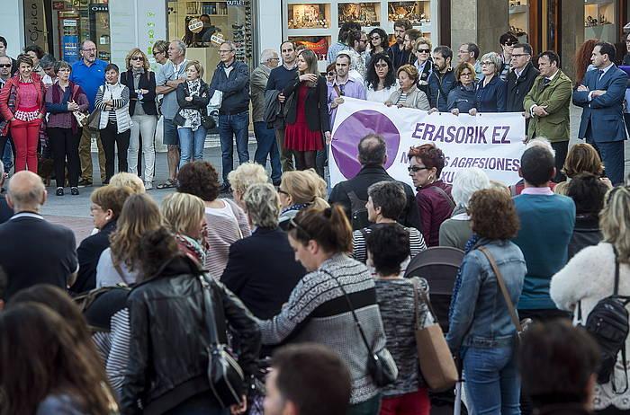 Telletxe plazan eginiko elkarretaratzea. ©Luis Jauregialtzo / Argazki Press