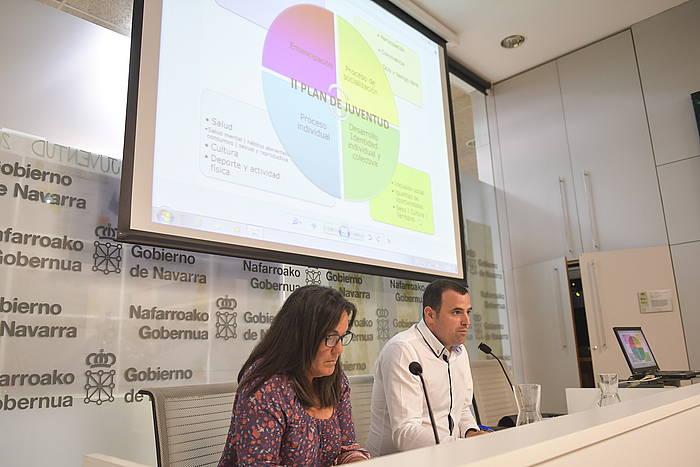 Adela Gonzalez eta Ruben Goñi, Kirol eta Gazteria Institutuko arduradunak. ©IDOIA ZABALETA / ARGAZKI PRESS