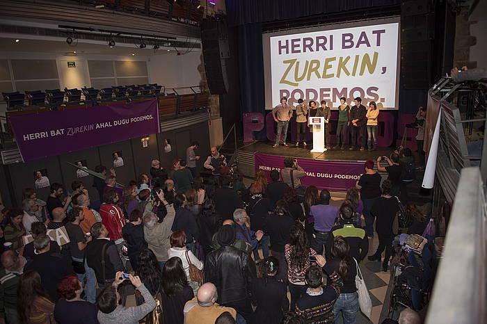 Ahal Dugu-ko jarraitzaileak, iazko abenduaren 20ko hauteskunde gauean. ©Marisol Ramirez / Argazki Press