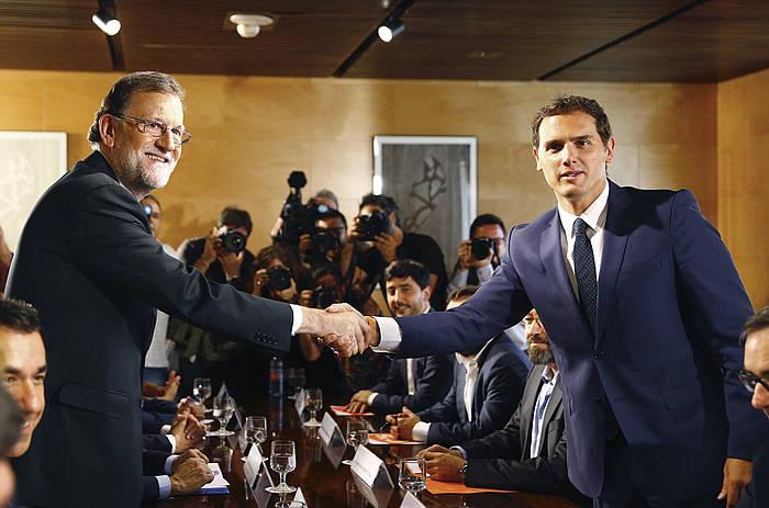 Rajoy eta Rivera, atzo. ©J.P. Gandul / Efe