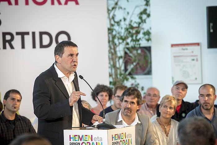 Arnaldo Otegi, larunbatean. ©GORKA RUBIO / ARGAZKI PRESS