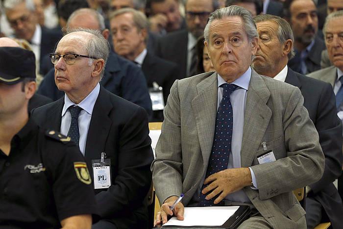 Rodrigo Rato eta Miguel Blesa Bankiako presidente ohiak, gaur, Auzitegi Nazionalean ©Chema Moya