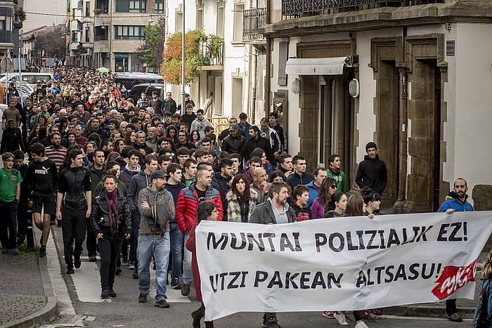 Larunbatean Altsasun egindako manifestazioa. ©Jazki Fontaneda / Argazki Press