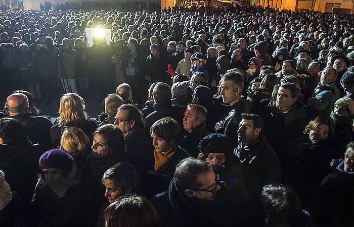 Nafarroako Gobernuak deitutako elkarretaratzea. ©Iñigo Uriz, Argazki Press