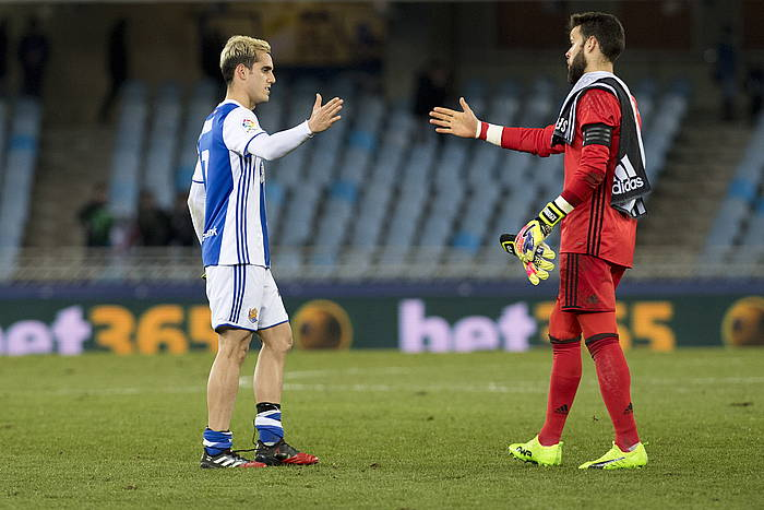 Juanmik egin du partidako gol bakarra. ©Juan Carlos Ruiz / Argazki Press