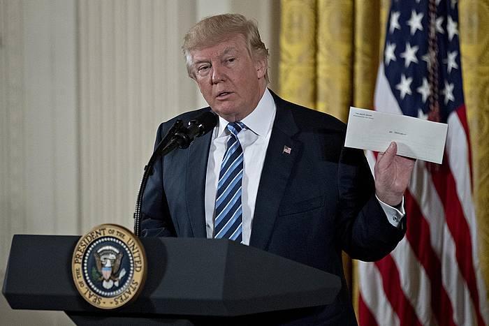 Trump, gobernuko hainbat karguren izendapen ekitaldian. ©Andrew Harrer / POOL /  EFE