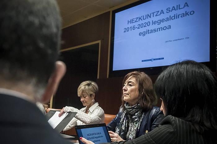 Cristina Uriarte, Eusko Legebiltzarrean. ©Jaizki Fontaneda / Argazki Press