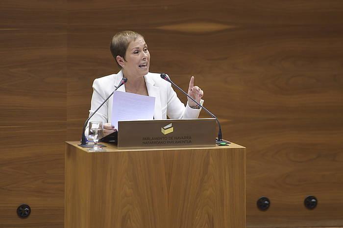 Uxue Barkos, Nafarroako Parlamentuan.