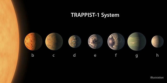 Zientzialariek Trappist-1 izena eman diote eguzki sistema aurkitu berriari. ©/ NASA