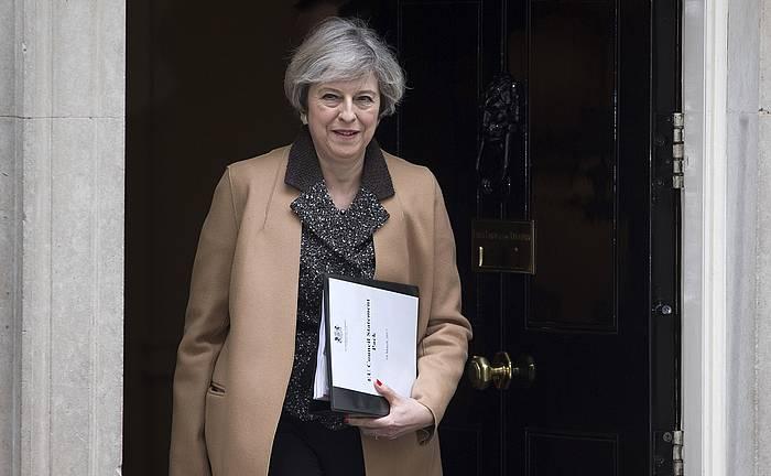 Theresa May lehen ministroa artxiboko irudi batean. /