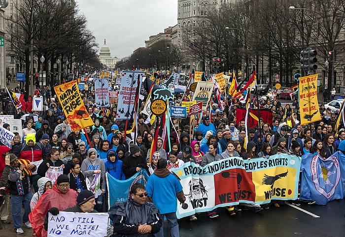 Martxoan Washingtonen egin zuten manifestazio bat ©JIM LO SCALZO, Efe