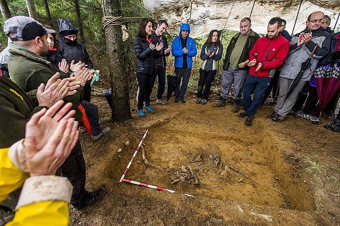 Hobitik ateratzeko lanak Albertia mendian. ©Jaizki Fontaneda / Argazki Press