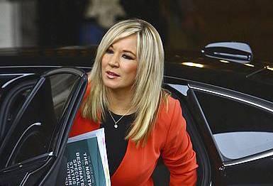 Michelle O'Neill Sinn Feineko buruzagia. / ©GEOFF CADDICK, Efe