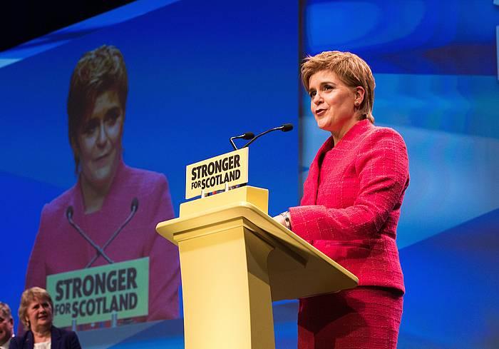 Nicola Sturgeon Eskoziako lehen ministroa, orain aste batzuk egin zuten SNPko bilkuran. ©ROBERT PERRY/EFE