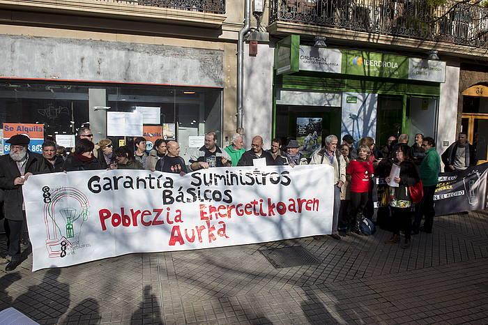 Pobrezia energetikoaren kontra iaz egin zuten elkarretaratze bat. / ©Iñigo Uriz, Argazki Press