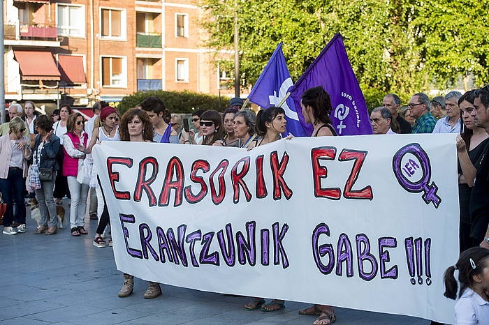 Indarkeria matxistaren aurkako protesta bat, Getxon. ©Luis Jauregialtzo / Argazki Press