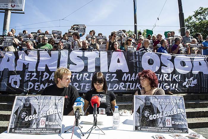 Bilbaoren egoera salatzeko ekainaren 10ean Bilbon eginiko agerraldia / ©Aritz Loiola (Argazki Press)