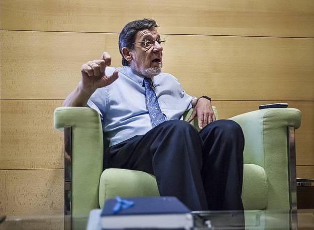 Juan Luis Ibarra EAEko Auzitegi Nagusiko presidentea, ostegunean, Bilbon, BERRIAko elkarrizketan. ©/ Aritz Loiola, Argazki Press