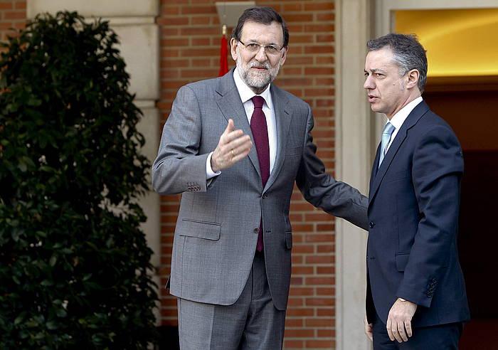 Rajoy et Urkullu 2013an egn zuten bileran. / ©Juan M. Espinosa, efe