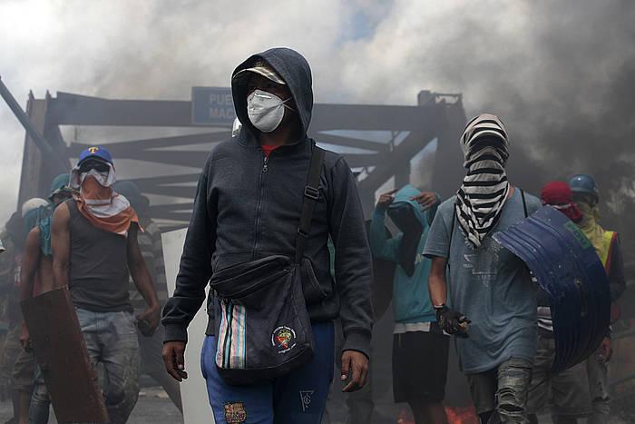 Protestak egin dituzte Venezuelako hiri nagusietan. Argazkian Barquisimetokoa. /
