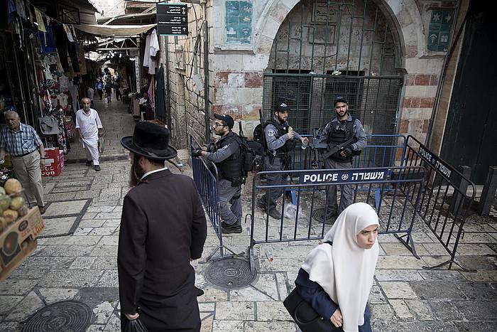 Israelgo polizia Jerusalemen. / ©ABIR SULTAN, EFE