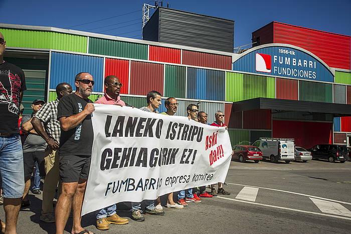 Fundiciones Fumbarriko langileen protesta. ©Jaizki Fontaneda / Argazki Press