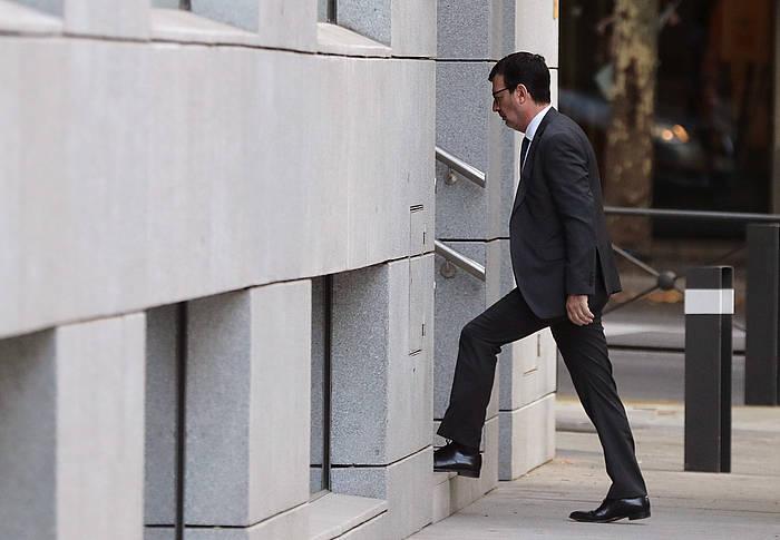 Fernando Andreu epailea auzitegira sartzen. / ©Chema Moya, Efe