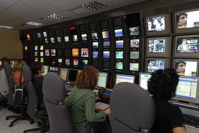 TV3 telebista katearen errealizazio gela bat. /