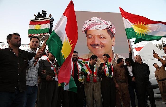 Irakeko Kurdistango erreferendumaren aldeko manifestazioa, Arbilen. ©Gailan Haji / EFE