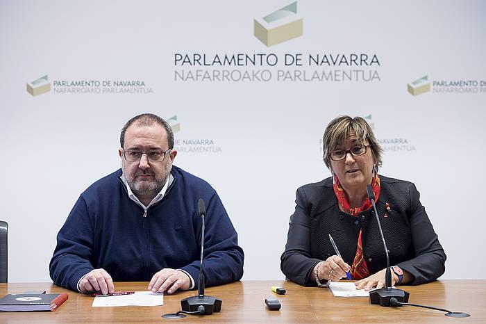 Jose Miguel Nuin eta Marisa de Simon Ezkerrako parlmentariak, artxiboko irudian. ©Iñigo Uriz / Argazki Press
