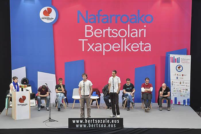 Iruditan, iragan apirilean jokatu zen Nafarroako Bertsolari Txapelketako finala. ©Idoia Zabaleta / Argazki Press