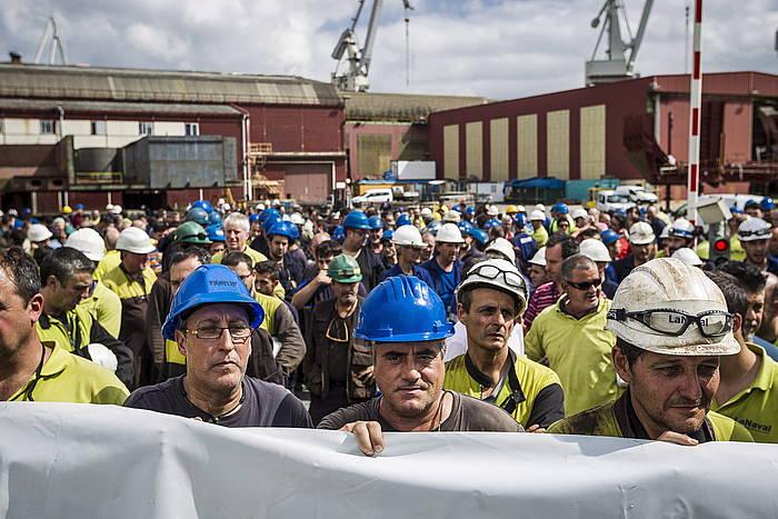 Navaleko langileen protesta bat. / ©Aritz Loiola, Argazki Press