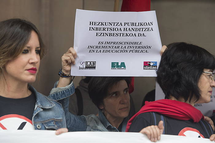 Sindikatuen protesta, Bilbon. / ©Monika del Valle, Argazki Press