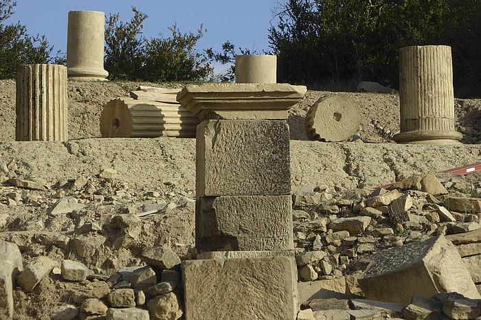 Aurkitutako aztarnek herri garrantzitsu bat izan zela erakusten dute, arkeologoen arabera. ©JAGOBA MANTEROLA / ARGAZKI PRESS