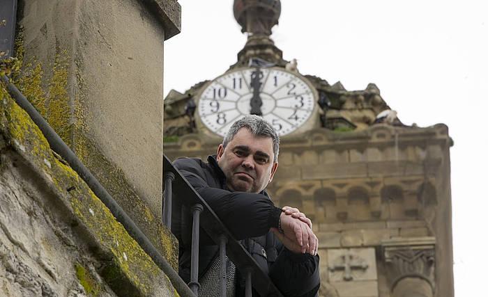 'Convertir el tiempo en oro' lana aurkeztu berri du Juan Ibarrondok. ©Raul Bogajo / Argazki Press