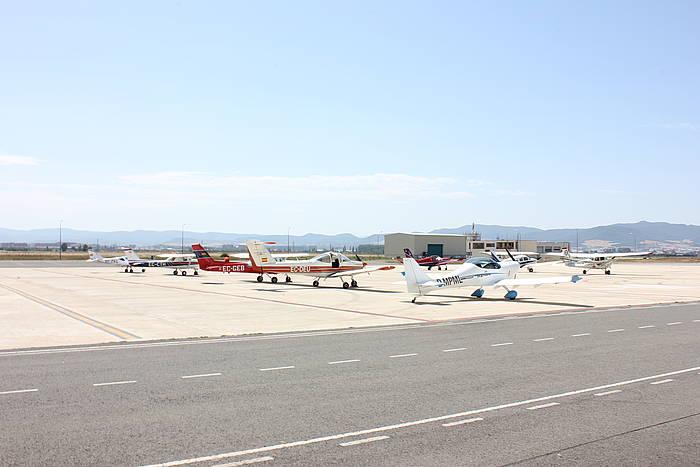 Aeroklubera joandako hegazkinak, artxiboko irudian. ©/ Heraclio Alfaro Aerokluba