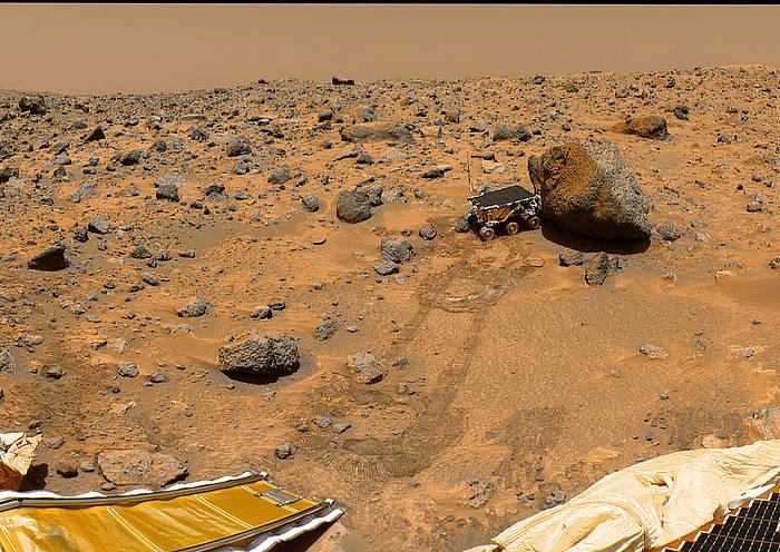 'Mars Pathfinder' ibilgailuak Marten ateratako argazkia./ ©NASA